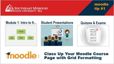 Class Up your Moodle Course Page with Grid Formatting