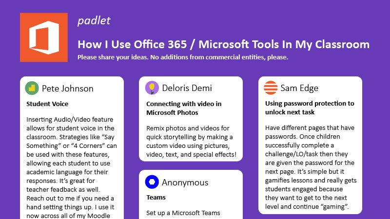 How I Use Office 365 in My Classroom