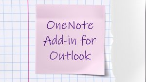 OneNote Add-in for Outlook
